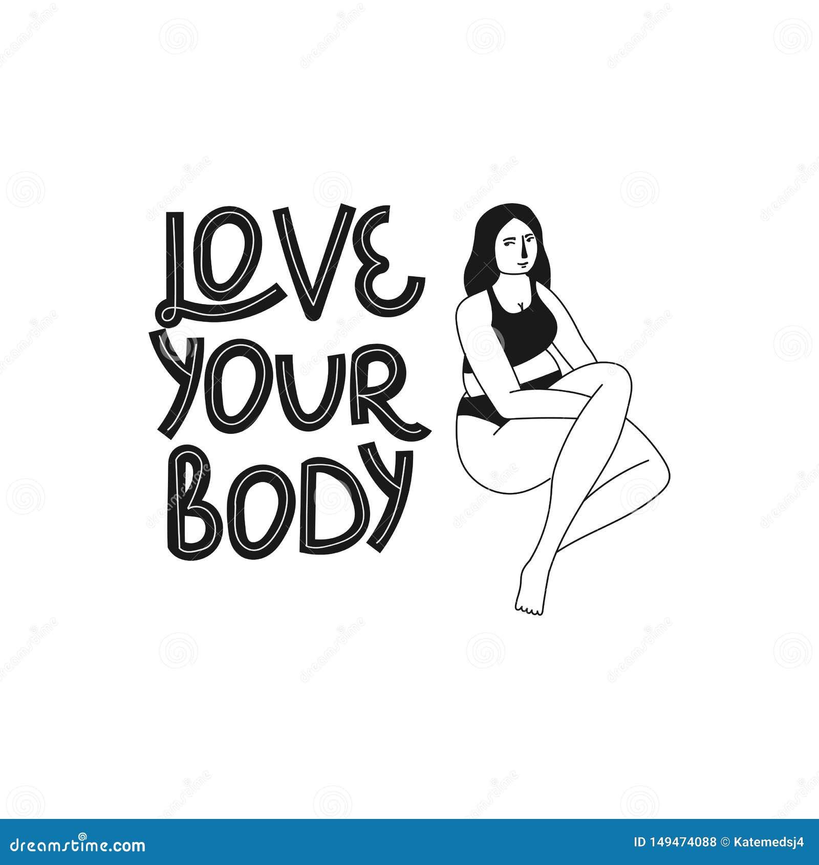 E 手拉的身体正面字法 海报,T恤杉的等传染媒介例证 E