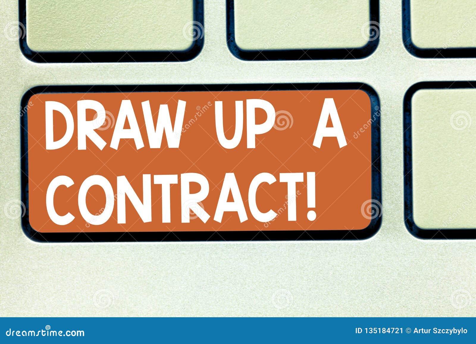 E 概念性照片写企业协议合作法律纸键盘键