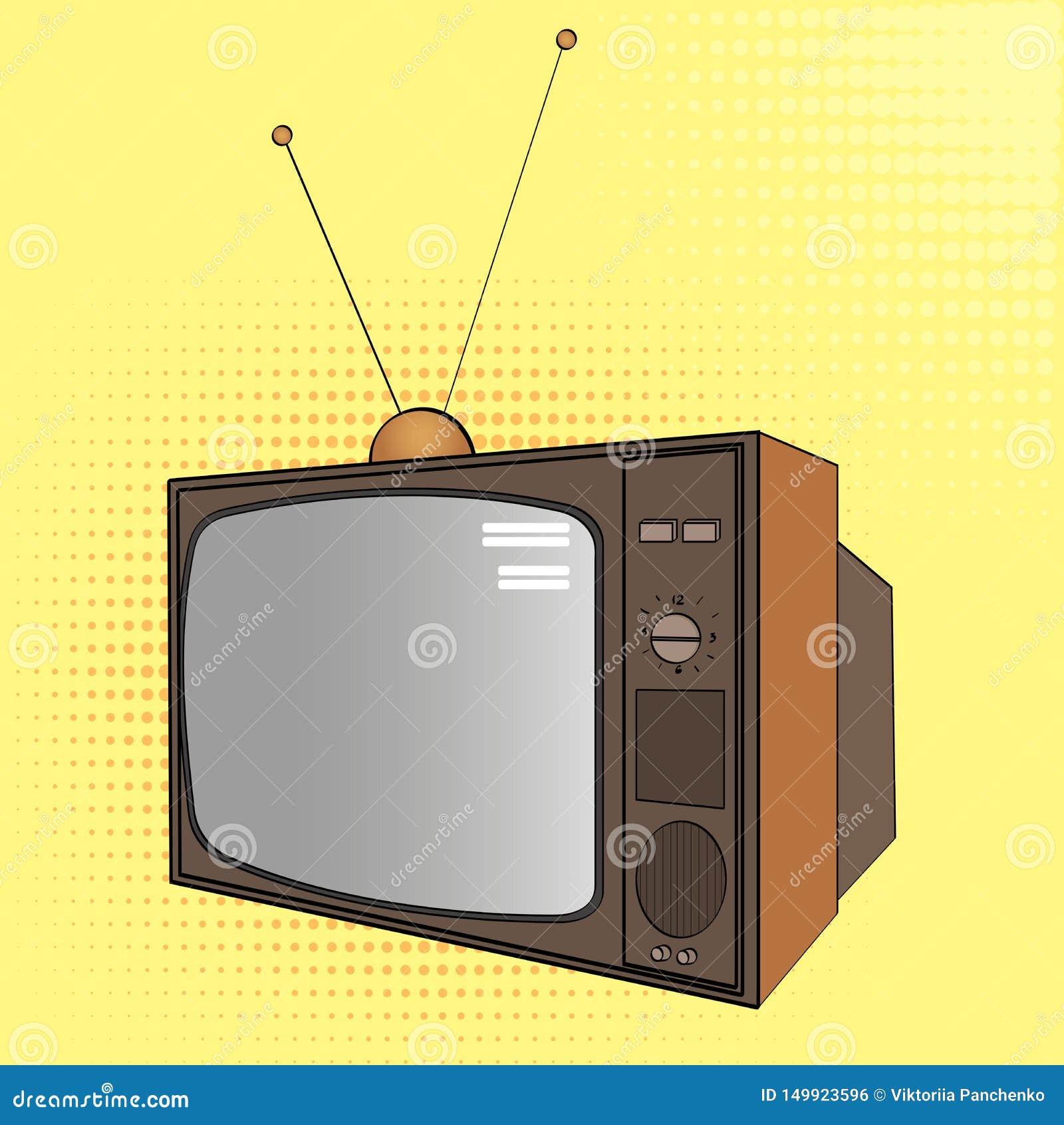 E 电子设备,老电视 漫画样式的模仿 ??