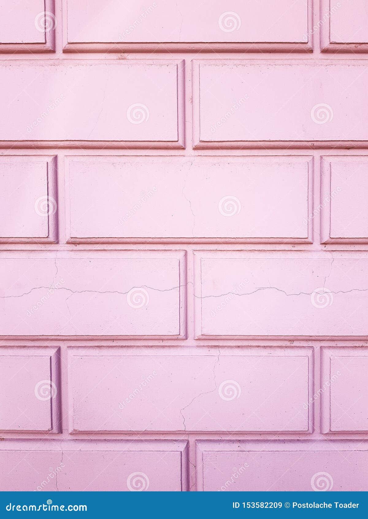 E 砖墙桃红色 老砖墙由粉色制成
