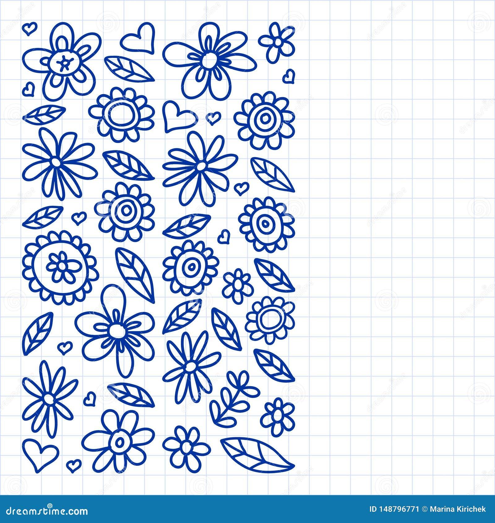 E 绘,画与一支笔,在方格的纸一张在白色的