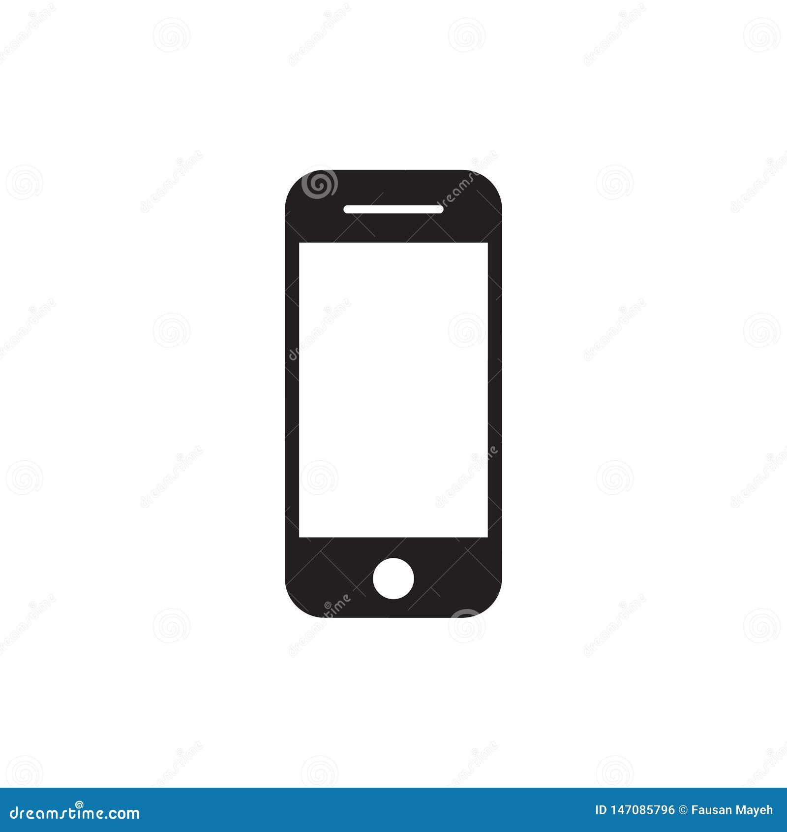 E Artilugio del dispositivo del smartphone del tel?fono m?vil en estilo del iphone en el fondo blanco