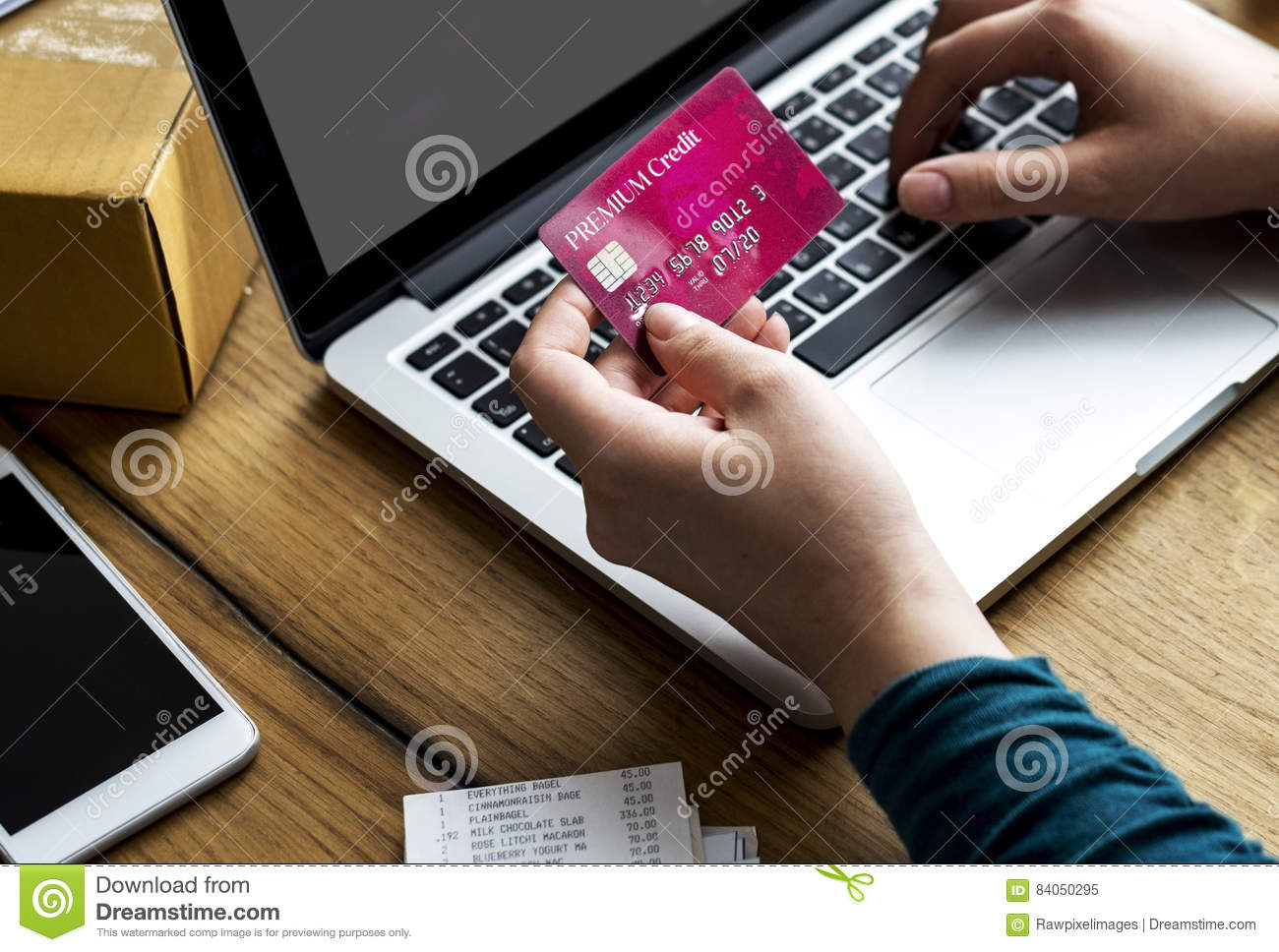 E-banking Payment Financial Connection Laptop Stock Image - Image of