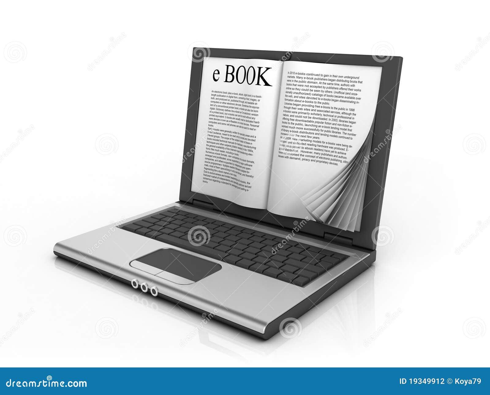 E-book 3d Concept Stock Photography - Image: 19349912