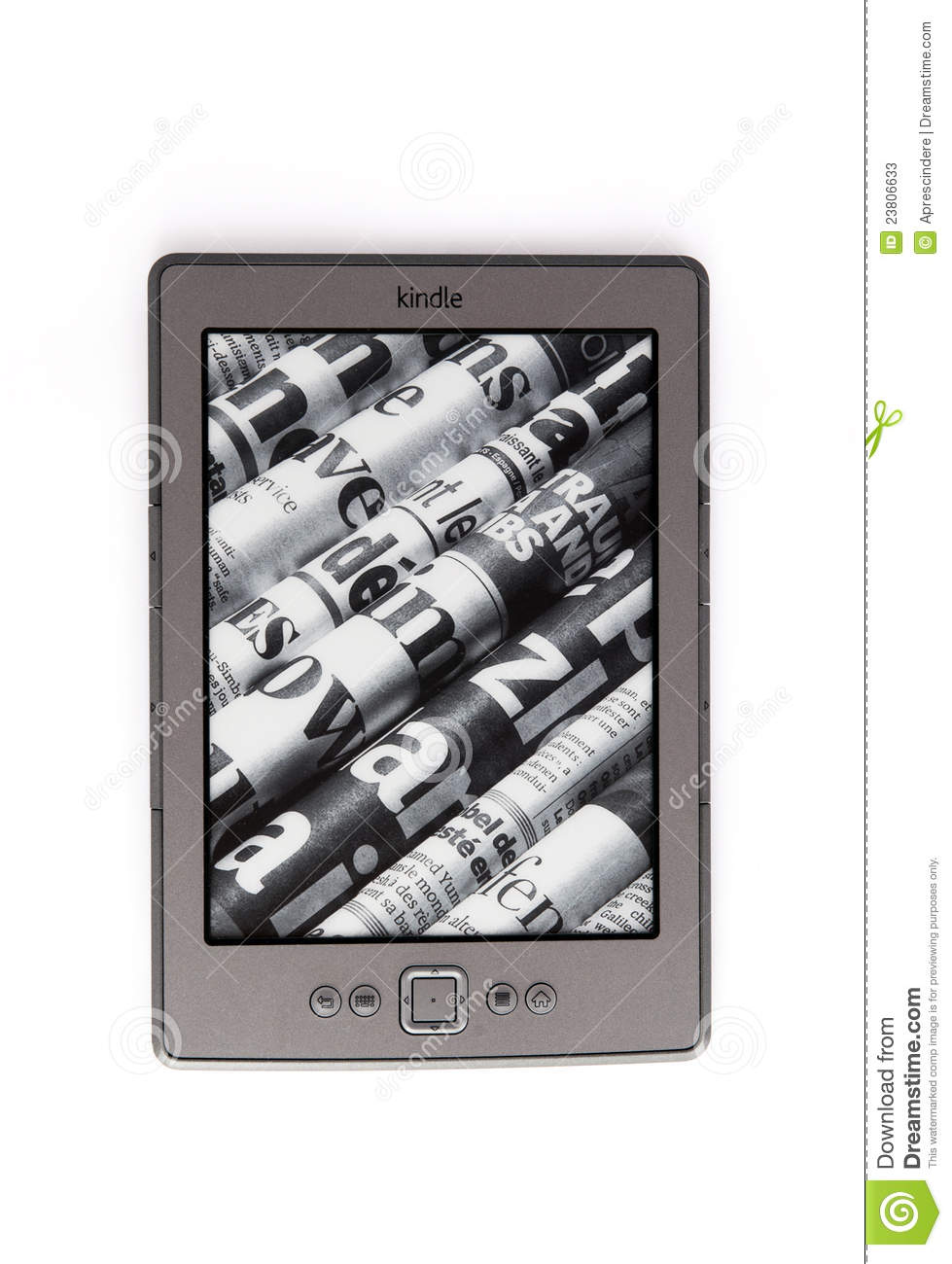 E-Book Reader Amazon Kindle Editorial Stock Photo - Image: 23806633