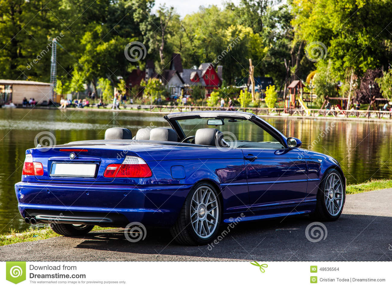 e46 cabrio stock photo image of wheels blue metallic 48636564. Black Bedroom Furniture Sets. Home Design Ideas