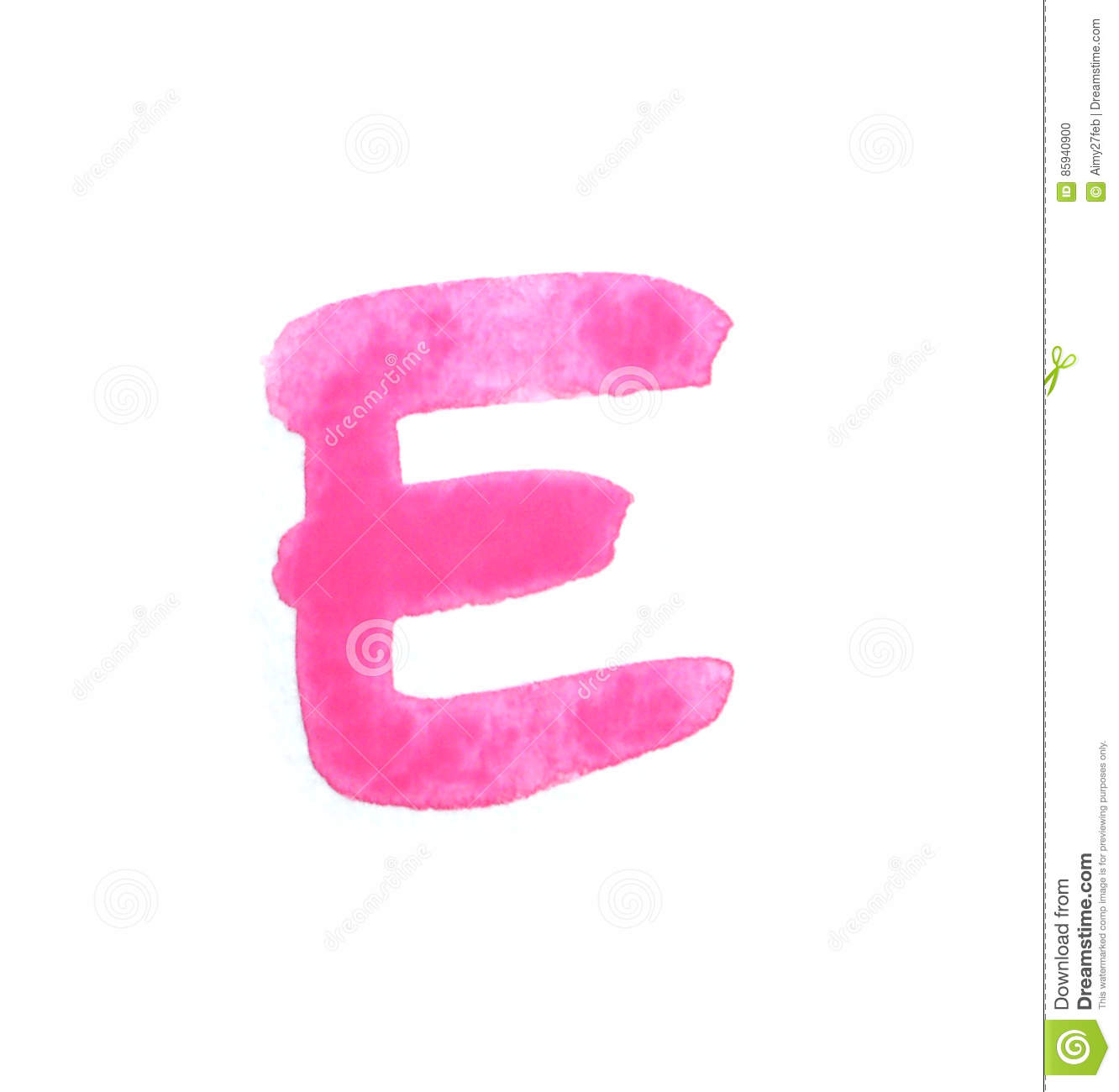 E - Color Letters Isolated Over The White Background. Stock Photo ...