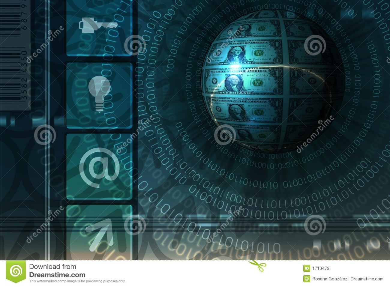E commerce background images - Abstract Background Binary Commerce