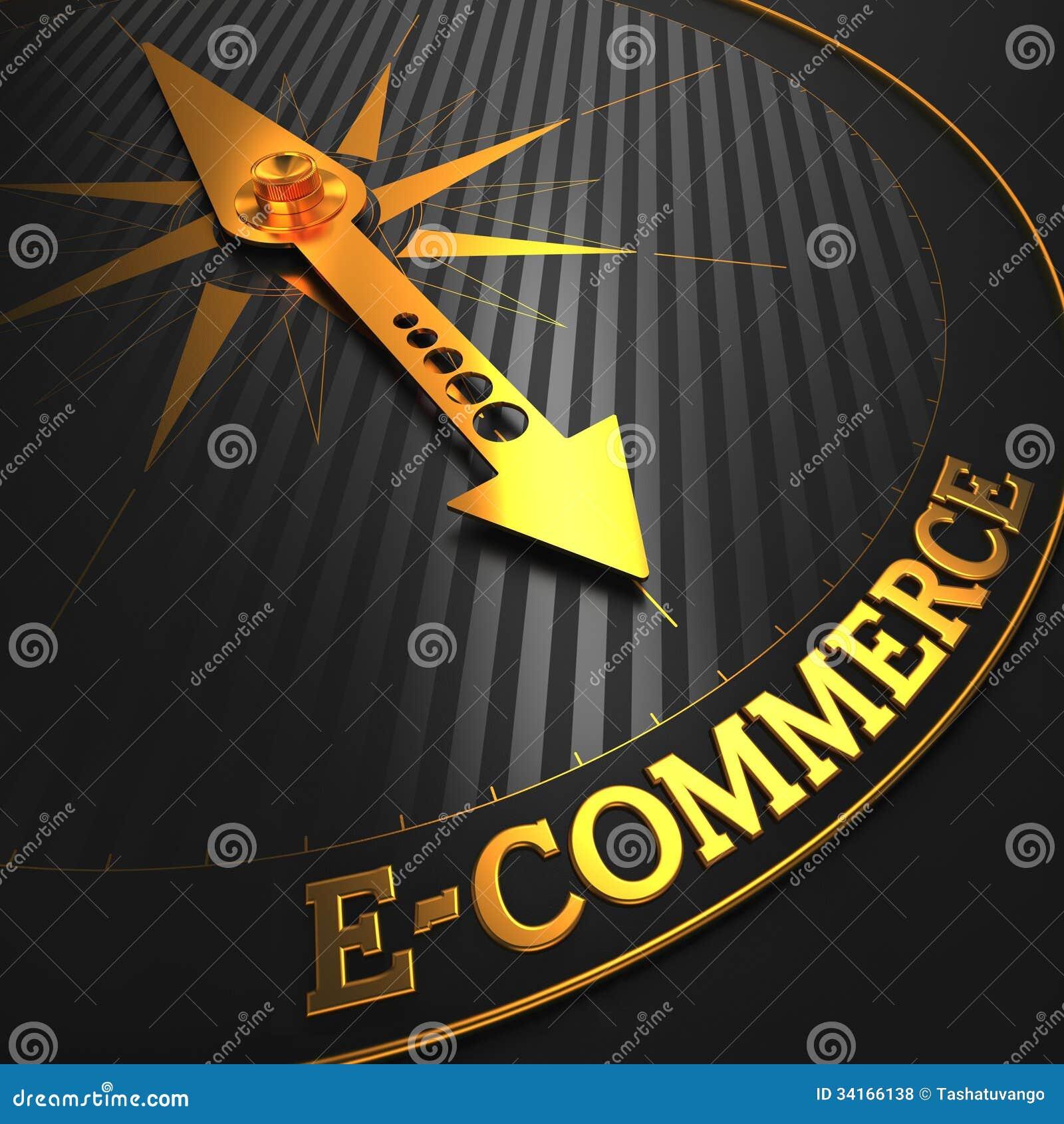E-Commerce. Geschäfts-Hintergrund.