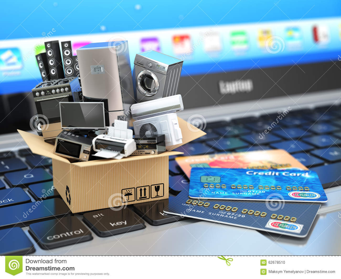 E-commerce or online shopping or delivery concept.