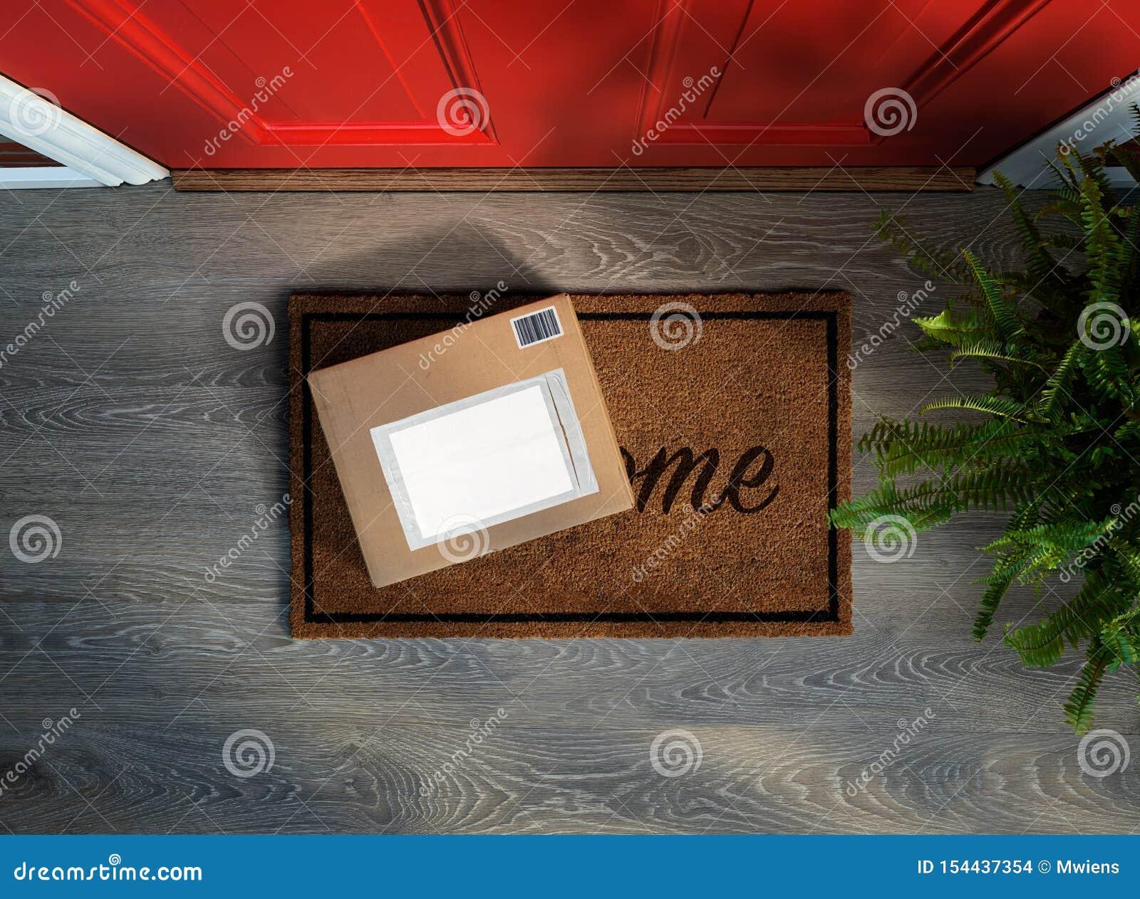 E-commerceaankoop aan uw deur wordt geleverd die