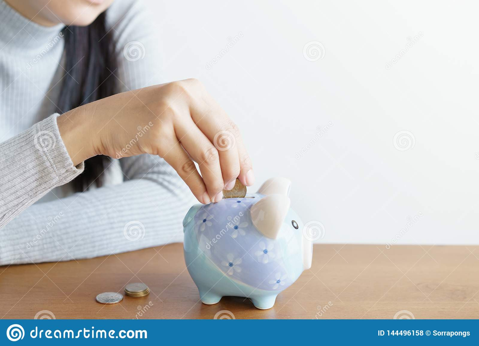 E Concept d argent d économie