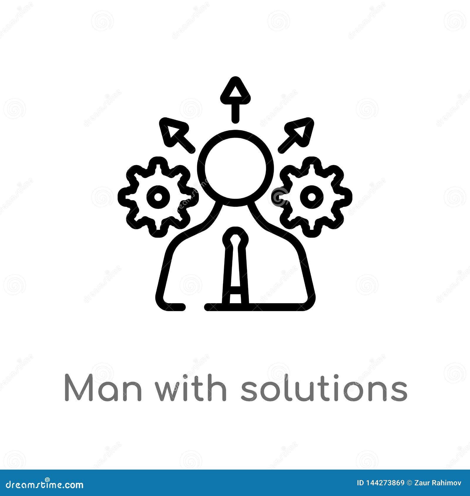E de ge?soleerde zwarte eenvoudige illustratie van het lijnelement van bedrijfsconcept Editablevector