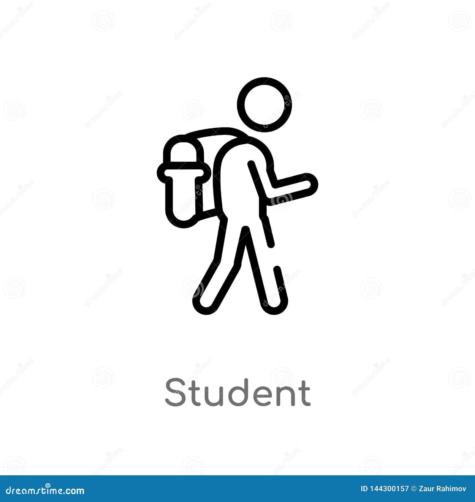 E de ge?soleerde zwarte eenvoudige illustratie van het lijnelement van onderwijs 2 concept Editable vectorslag