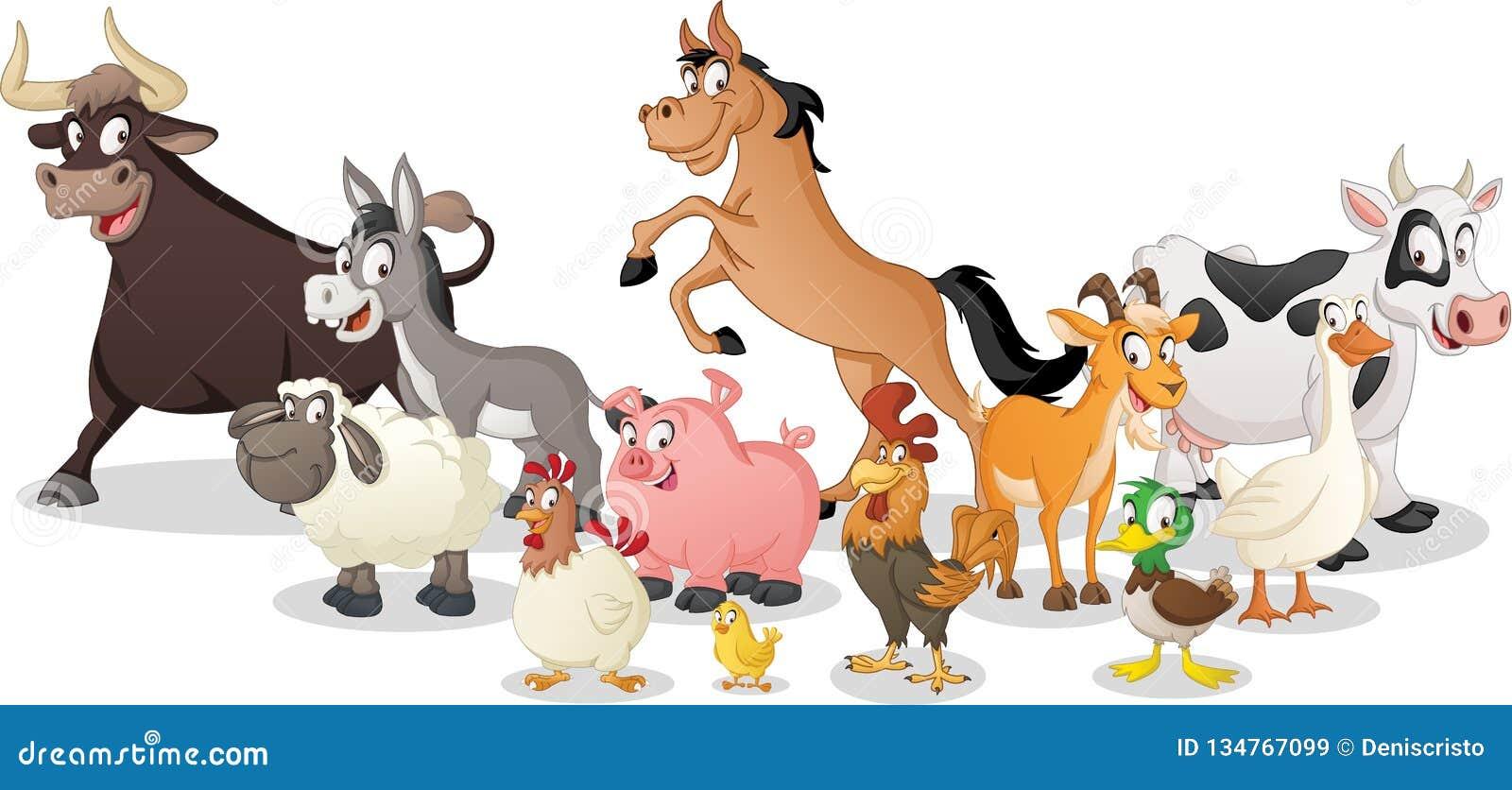 E Ejemplo del vector de animales felices divertidos