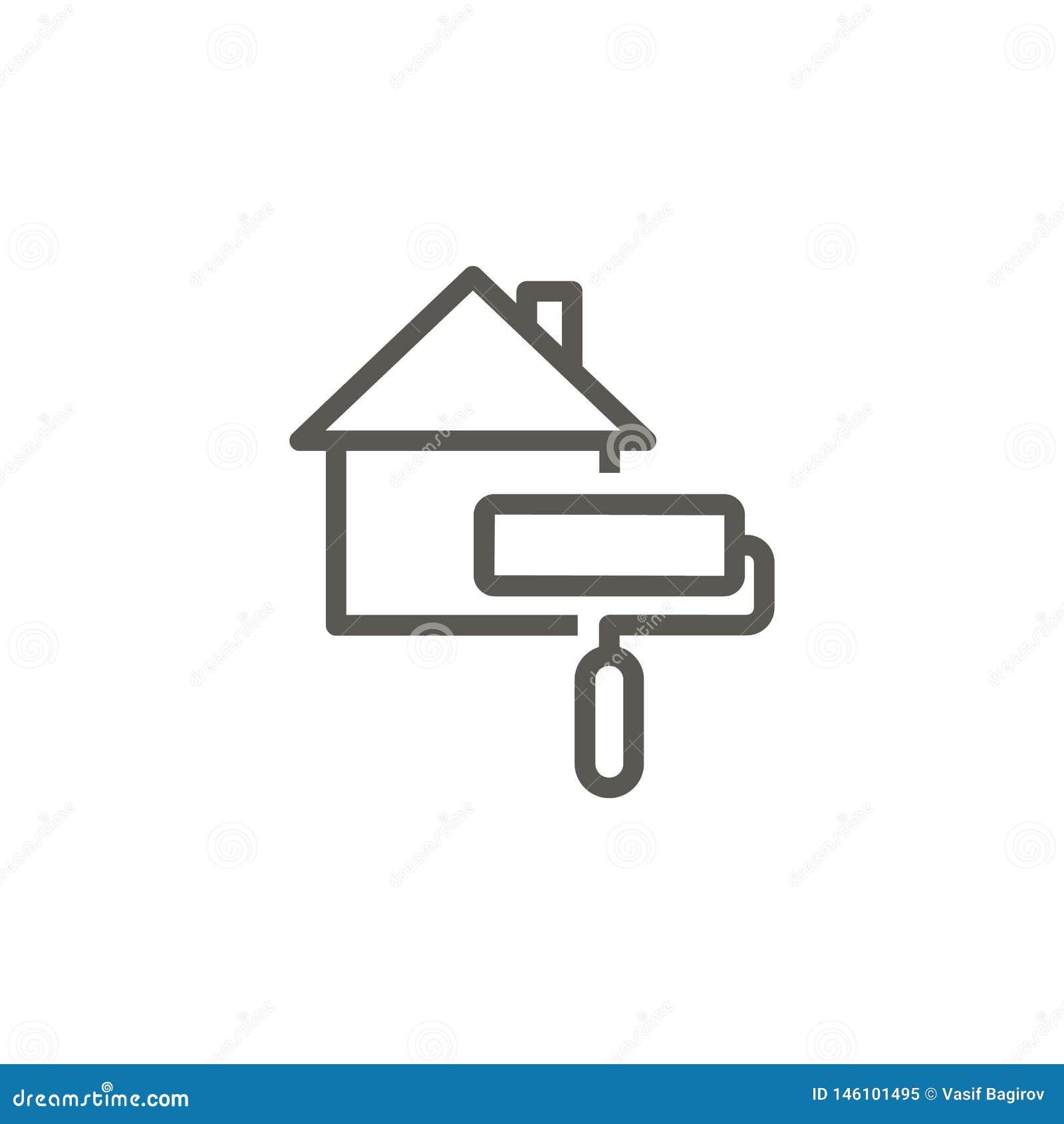 E Ejemplo simple del elemento del concepto de UI r Vector del concepto de las propiedades inmobiliarias