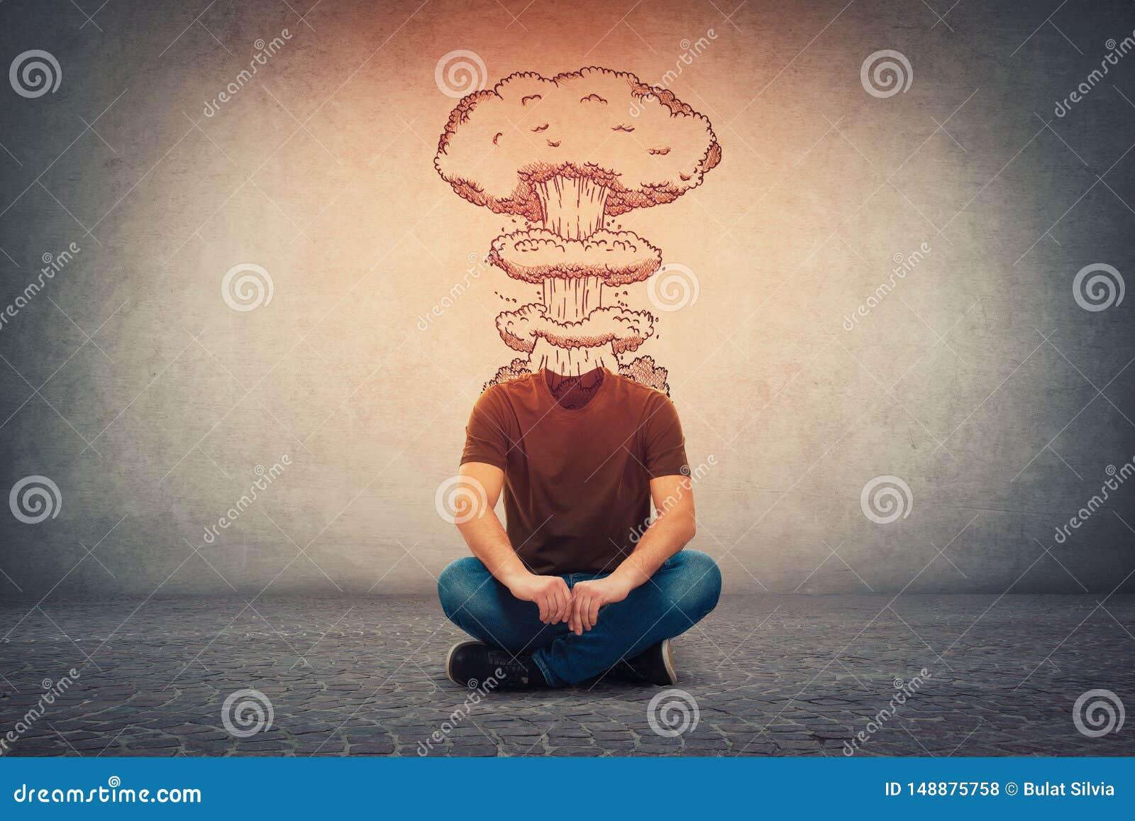 E Geisteszustand des Menschen mit Los Problemen