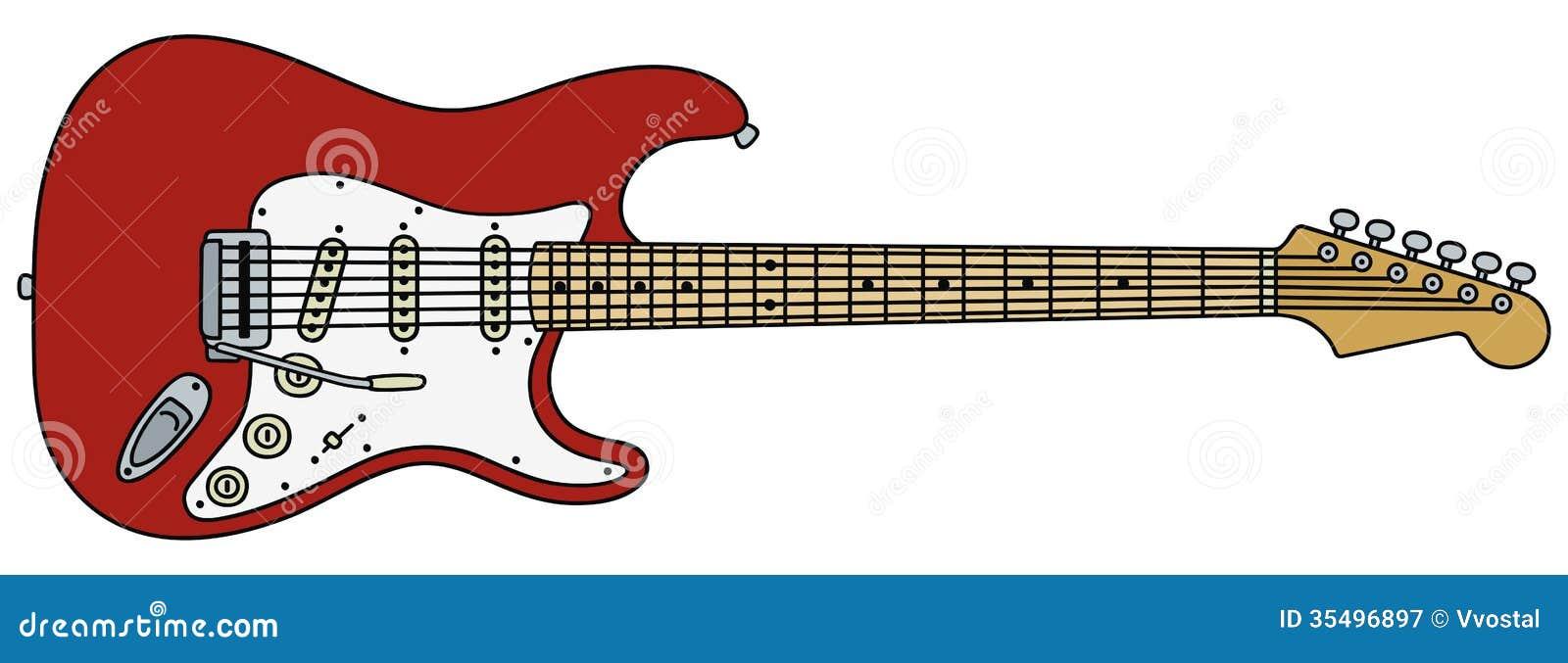 E-Gitarre vektor abbildung. Illustration von land, jazz - 35496897