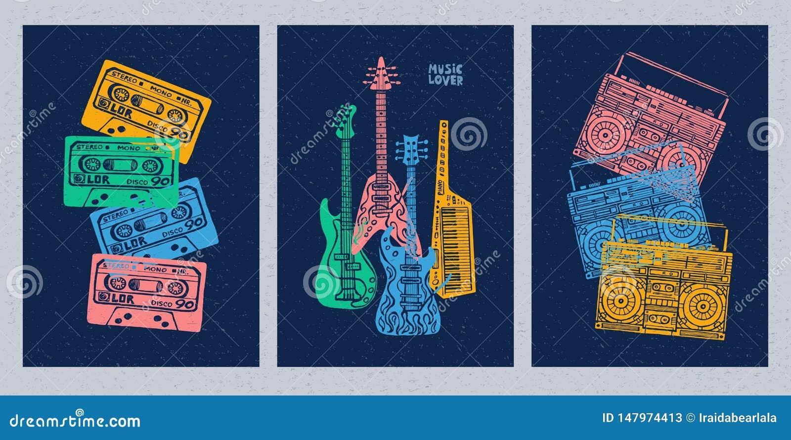 E Hand Tecknad Vektorillustration Vektor Illustrationer