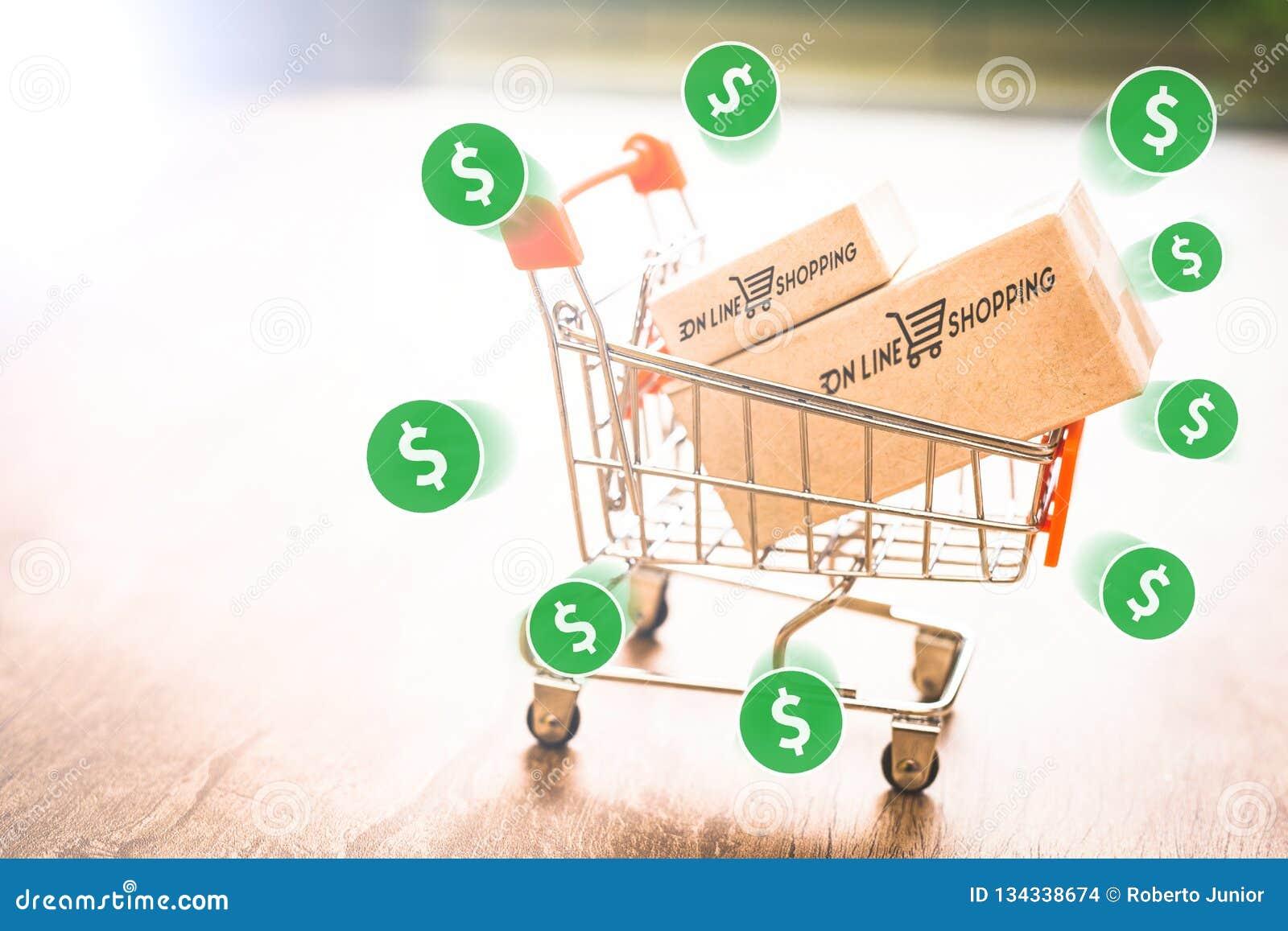 E handel, zakup i bubel online, wirtualny wózek na zakupy