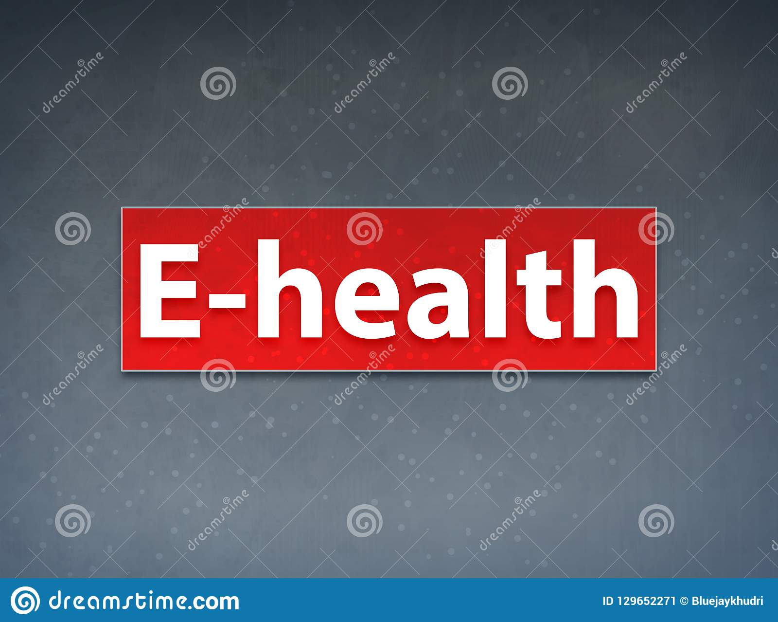 E Health Red Banner Abstract Background Stock Illustration Illustration Of Label Condition 129652271