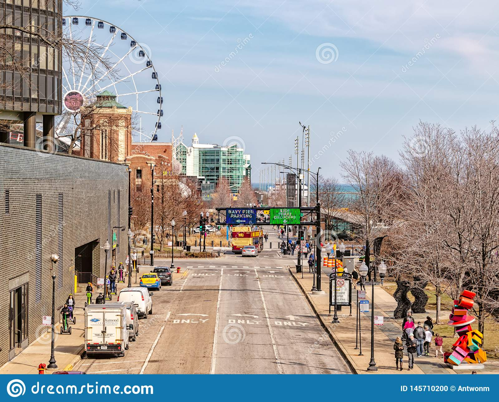 E Hoofdstraat in Chicago, straten in Illinois