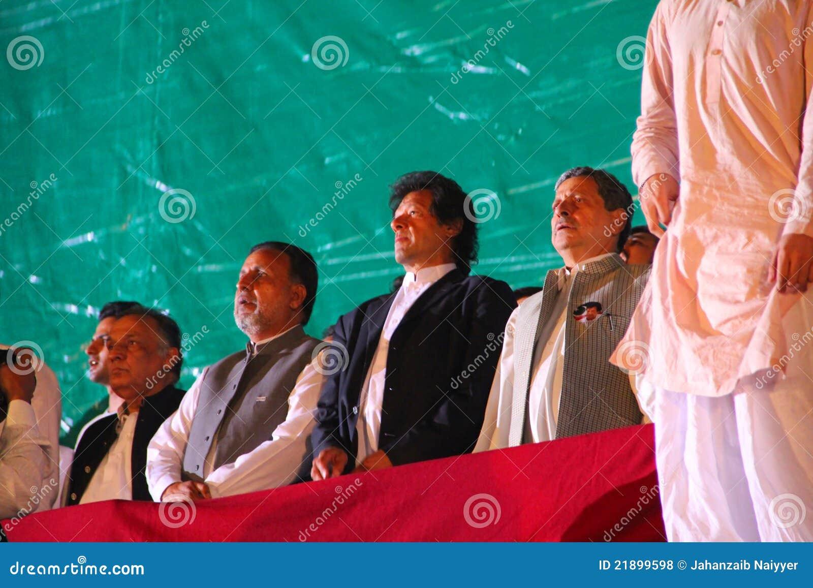 E insaf liderów Pakistan tehreek