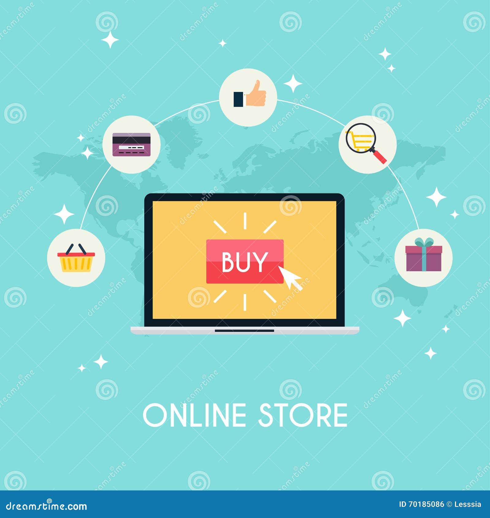 E-kommers elektronisk affär, online-shopping, betalning