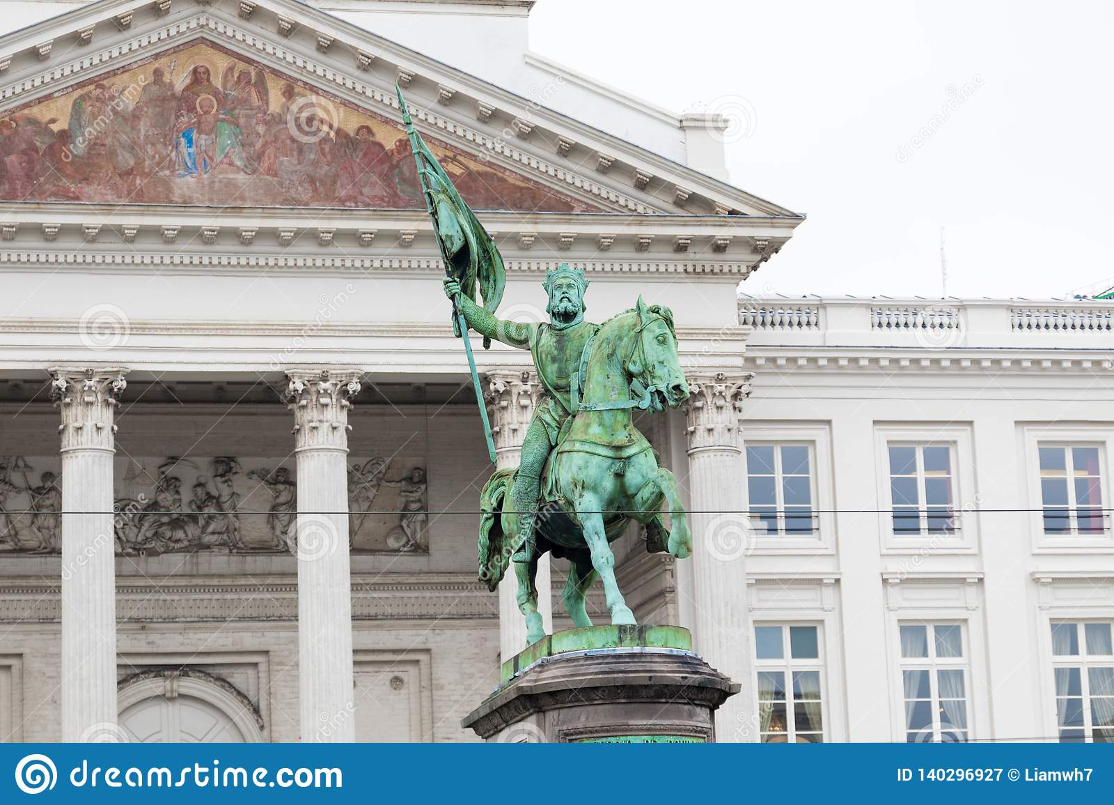 E 02 19: Koning Albert Statue In Brussels Belgium