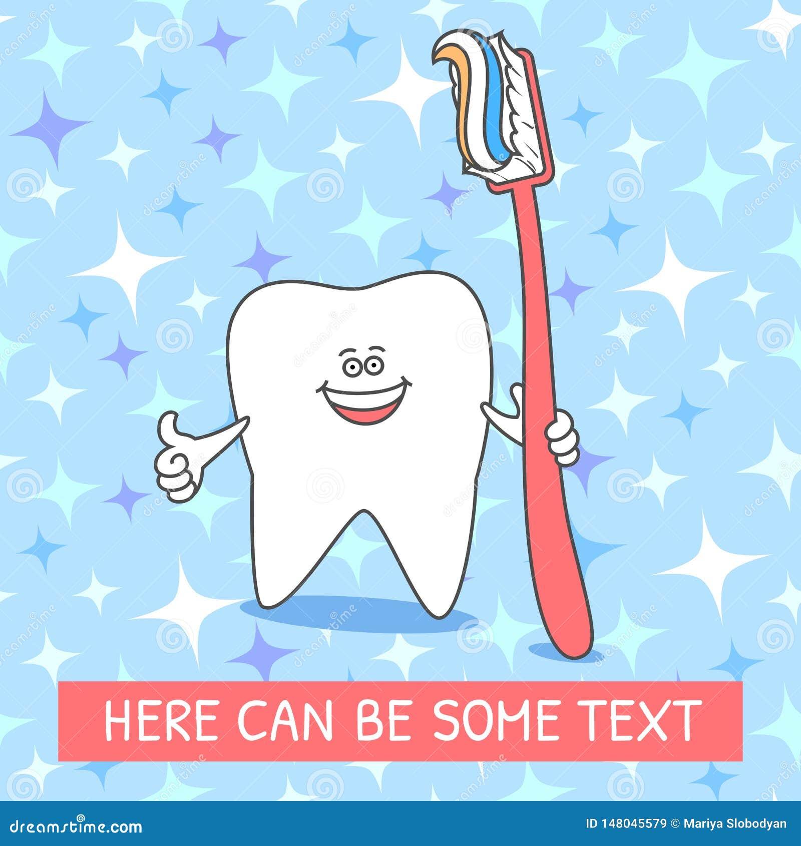 E L?chelnder Zahn r