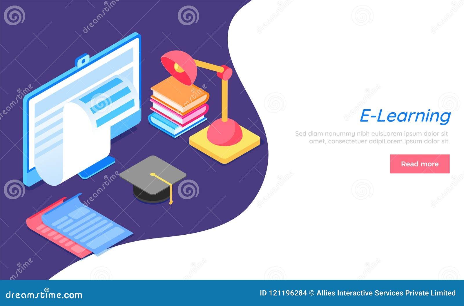 E-Learning Concept Based Website Template Or Hero Banner Design ...