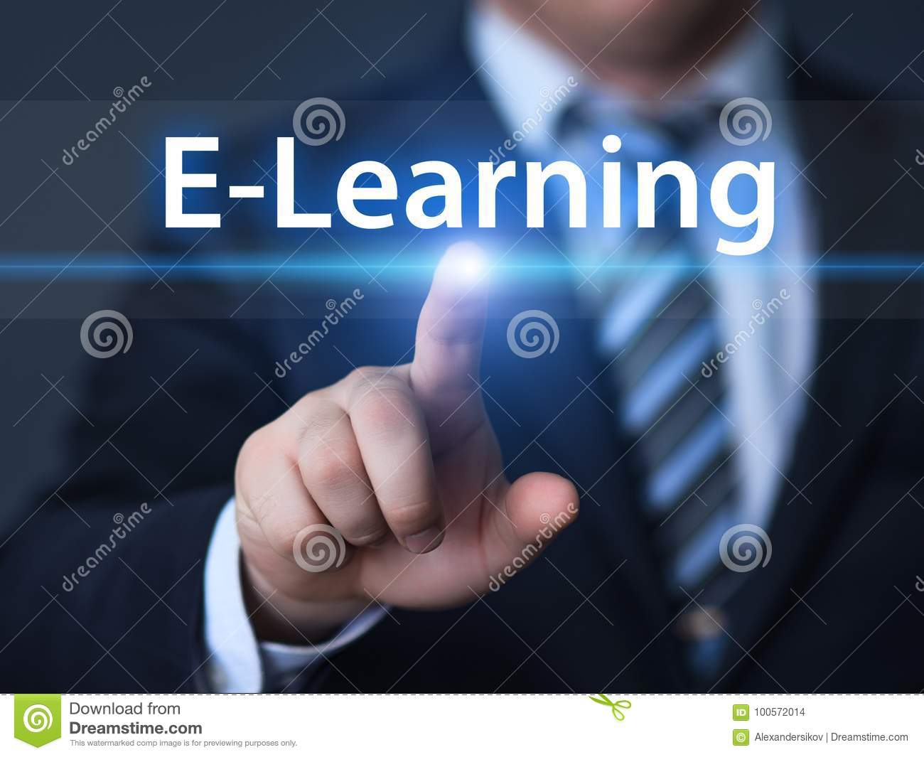 E-learning Education Internet Technology Webinar Online Courses concept