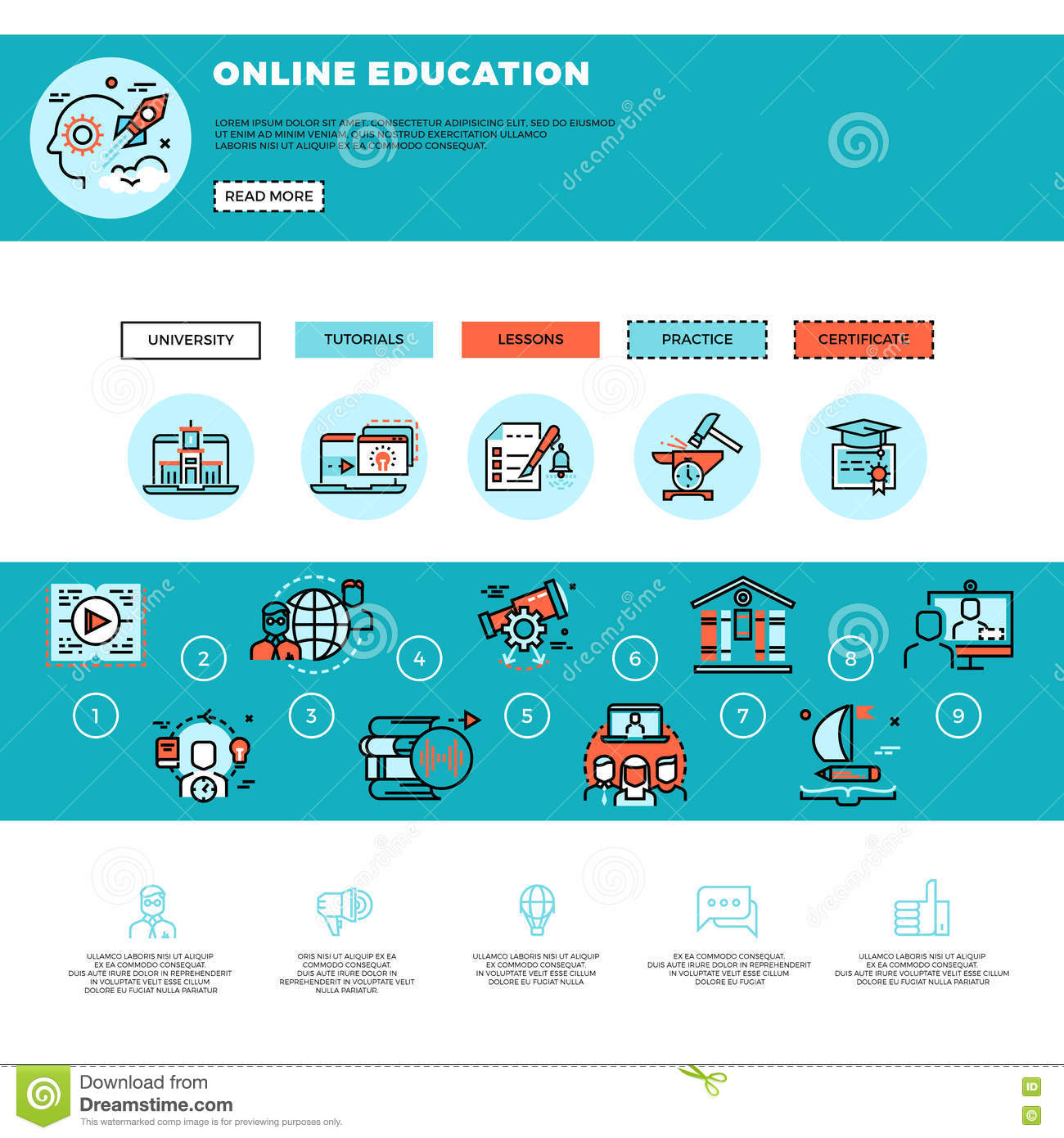 E learning education or training courses web design template e learning education or training courses web design template xflitez Gallery