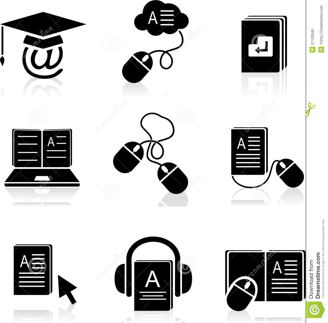 E Learning Icon E-learning icons in vector