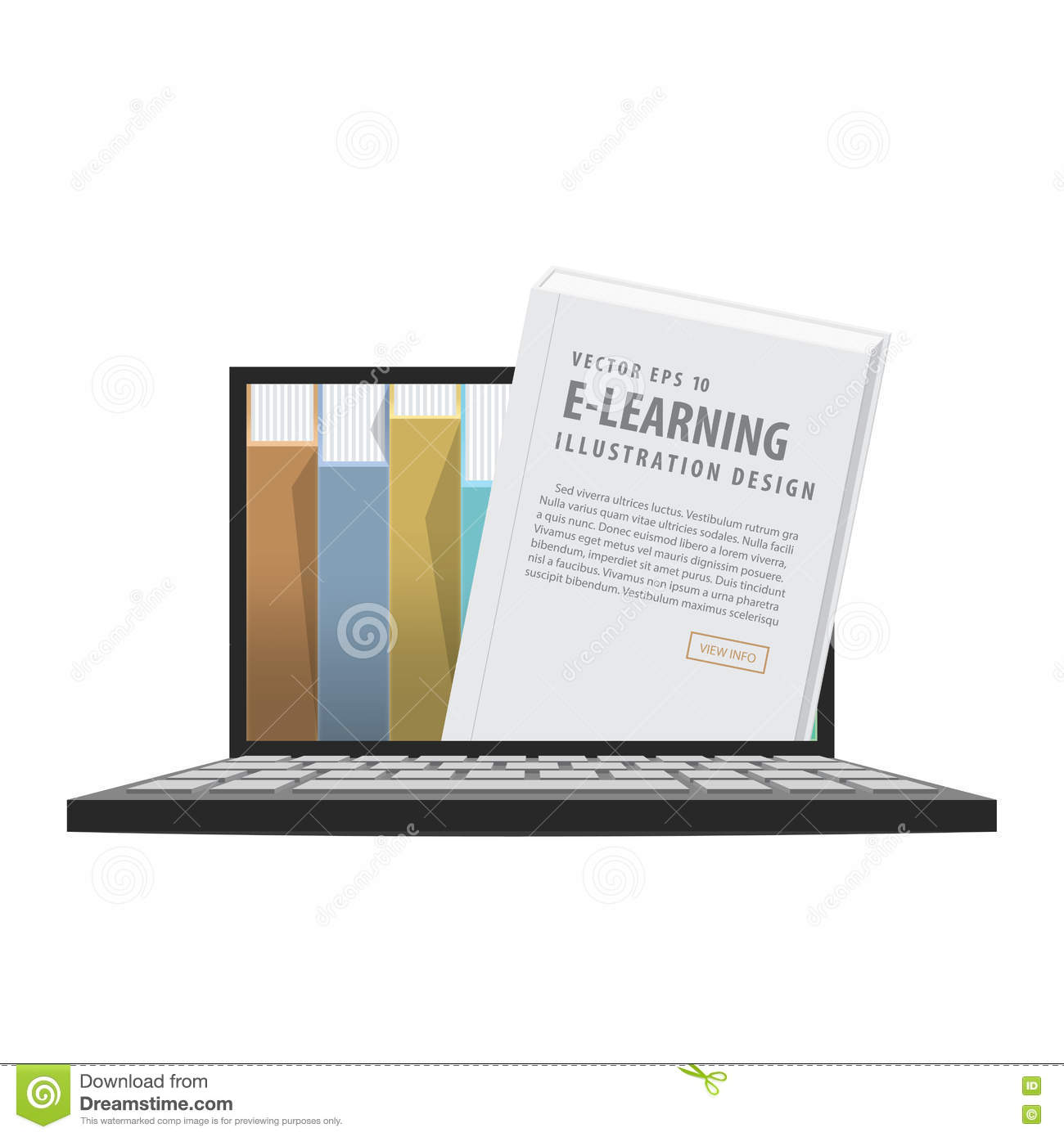 E-learning With Laptop, Learning Through An Online Network. Stock ...