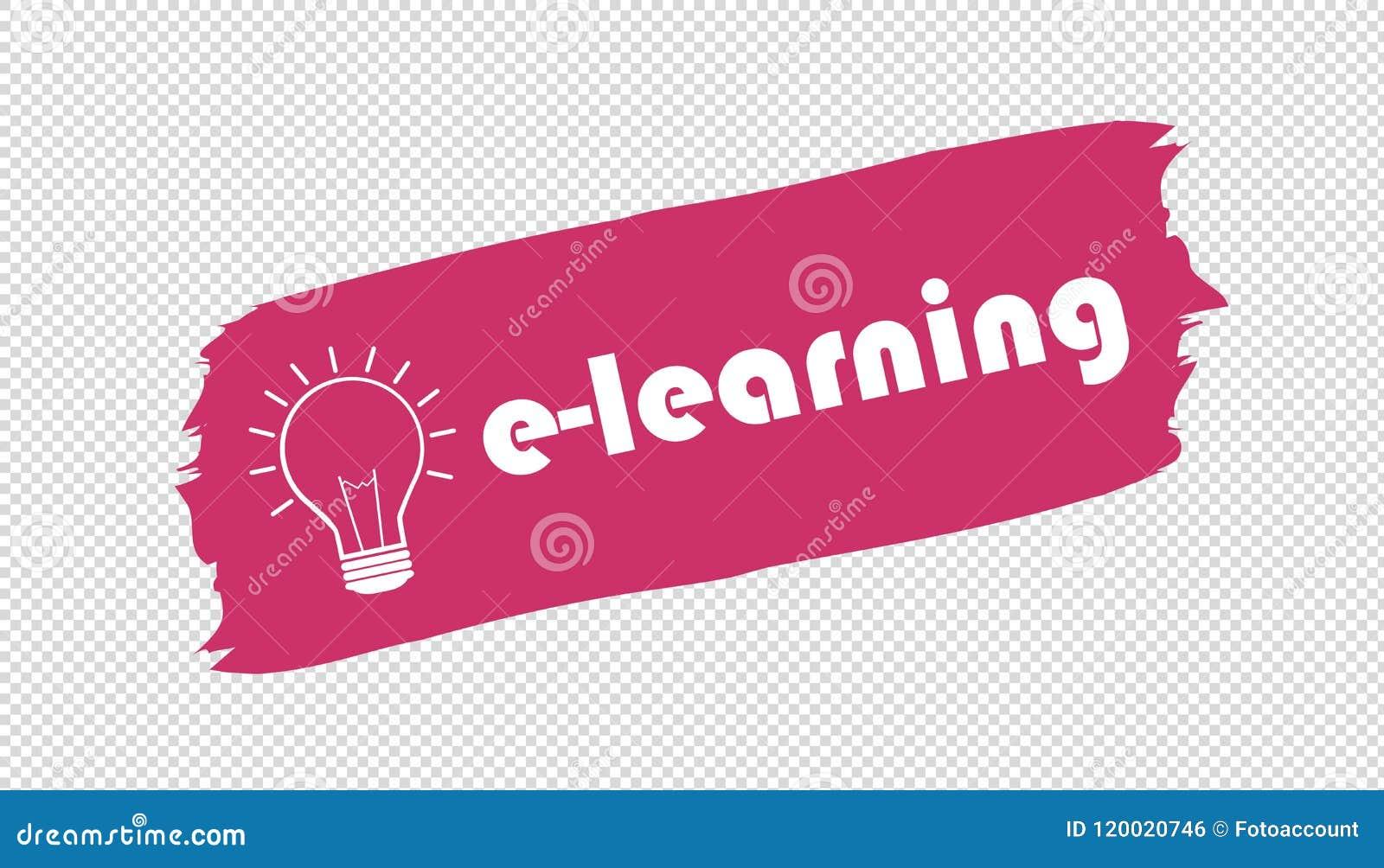 E Learning And Lightbulb Brushstroke Banner
