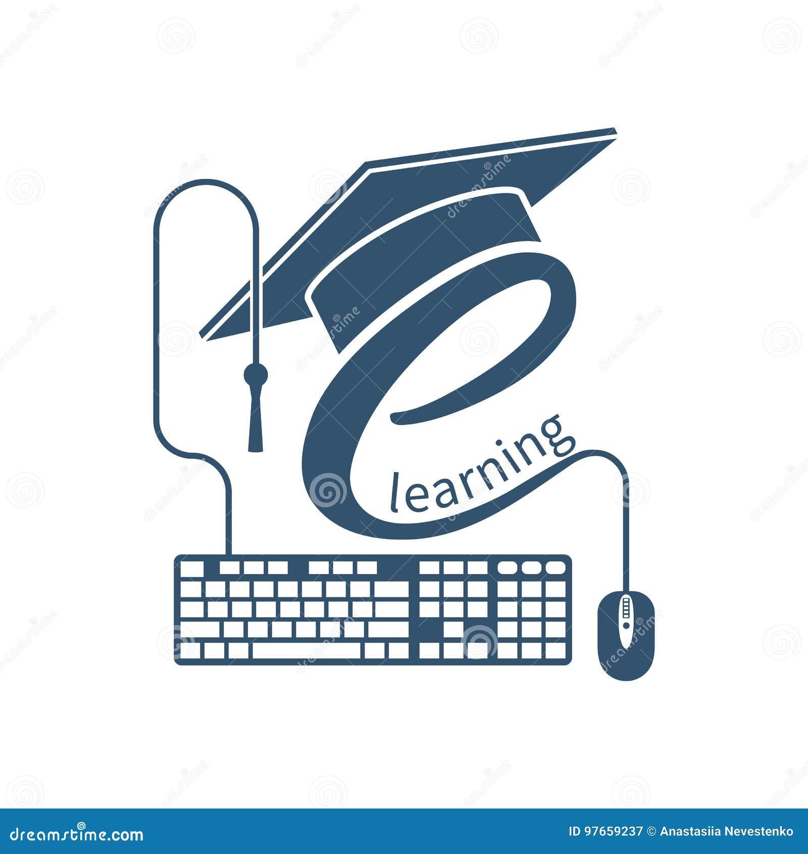 E-learning logo, vector stock vector. Illustration of ...