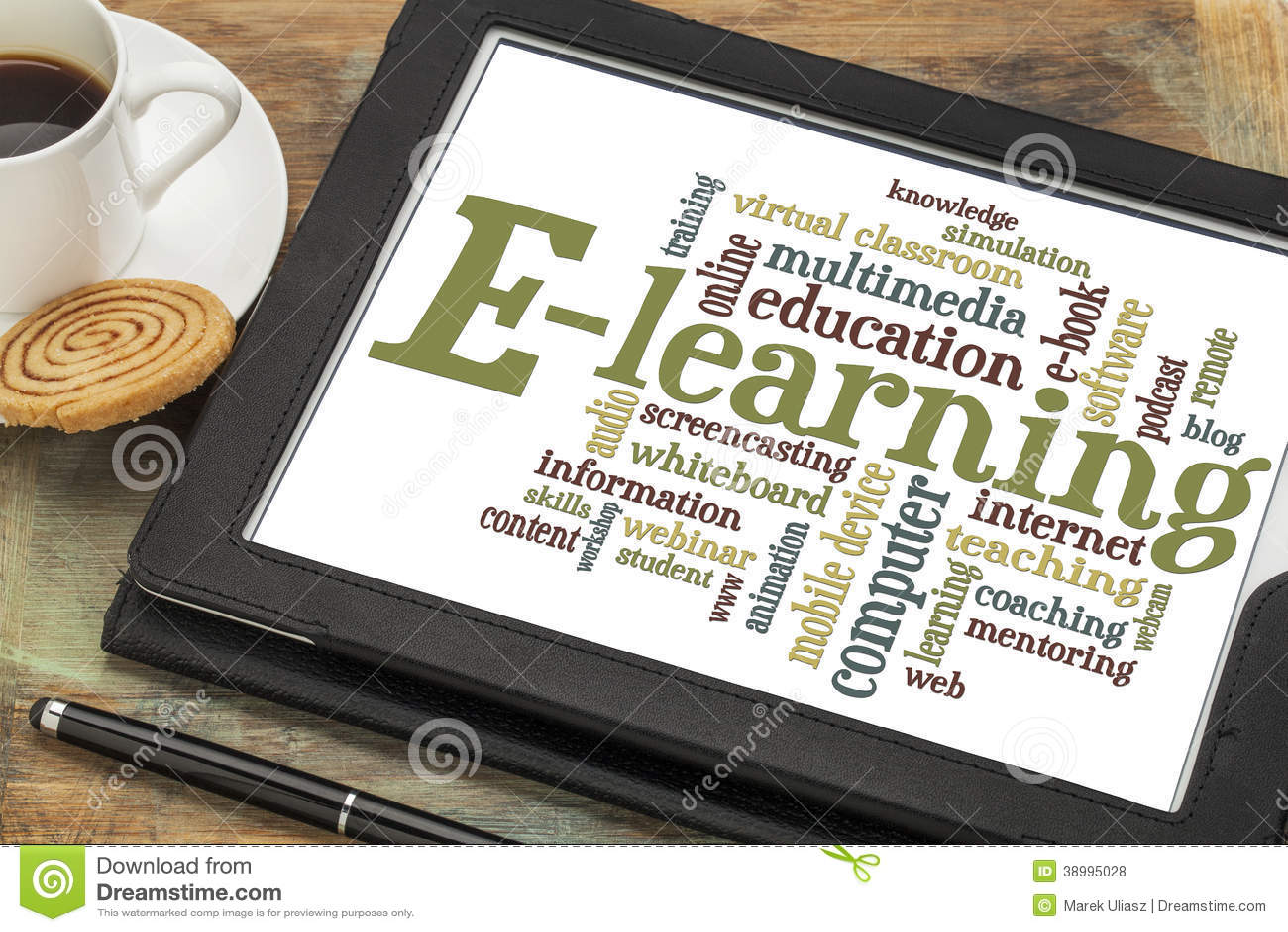 E-Learning-Wortwolke