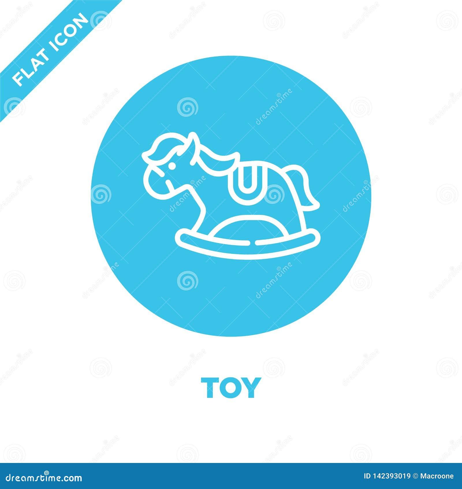 E Ligne mince illustration de vecteur d icône d ensemble de jouet Symbole linéaire pour l usage sur le Web et
