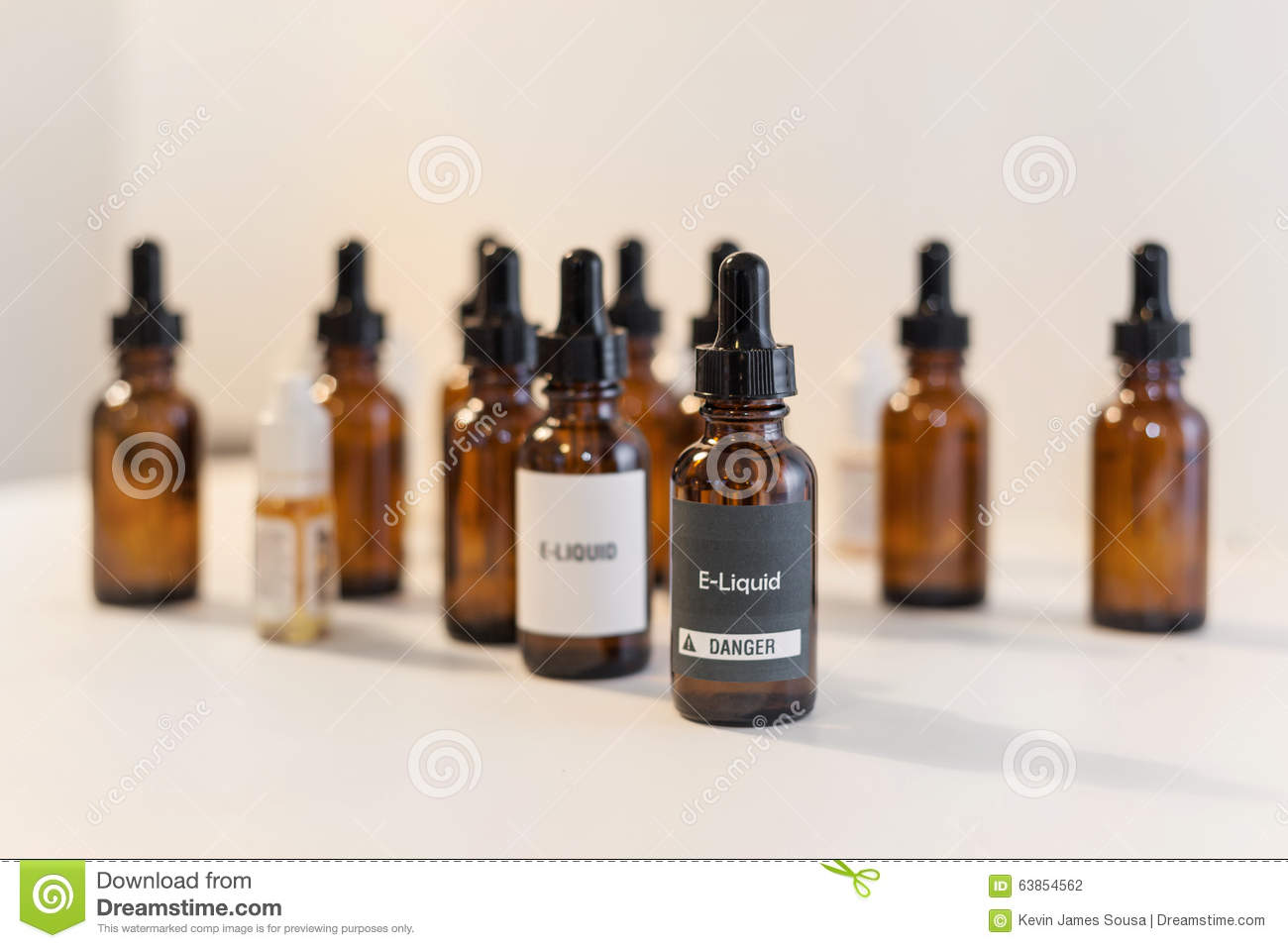 E-liquid Vape Juice Bottles Stock Photo - Image: 63854562