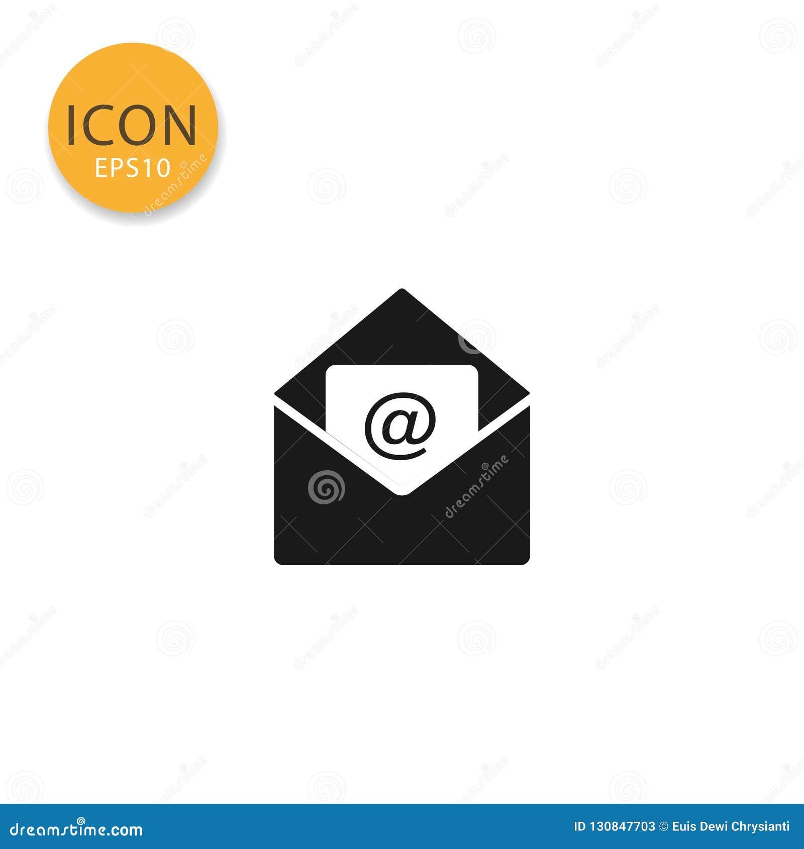 E-mail com estilo liso isolado ícone aberto do envelope
