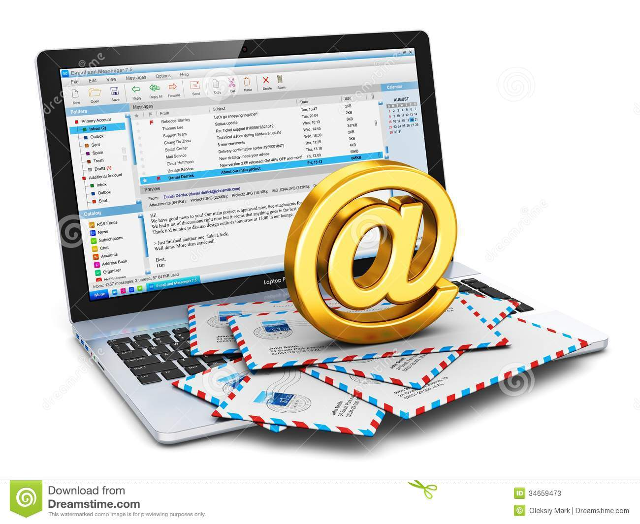 Correo Electrónico Clip Art: E-mail Concept Stock Illustration. Illustration Of