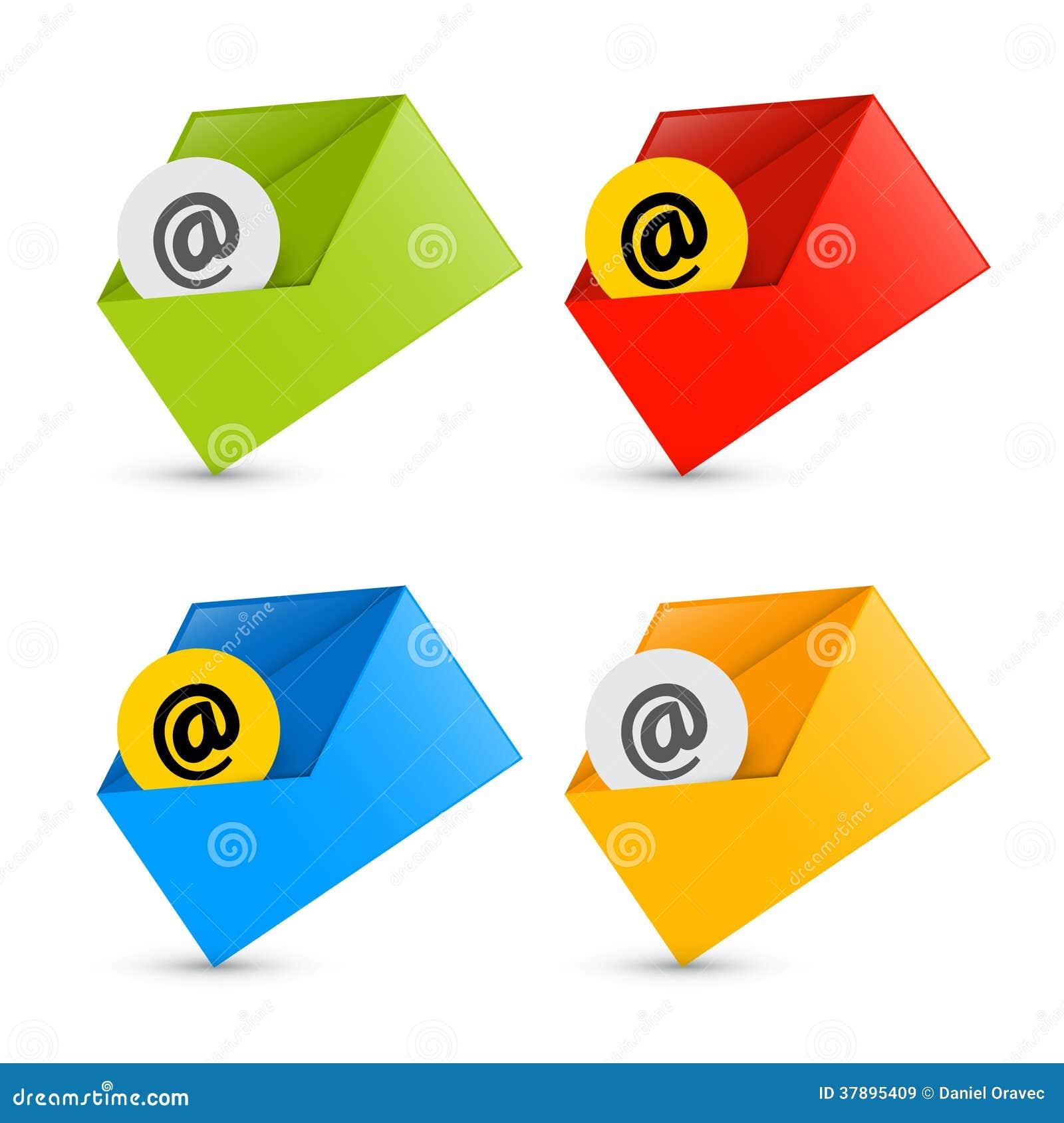 E-mail, E-mailpictogrammen, Geplaatste Enveloppictogrammen