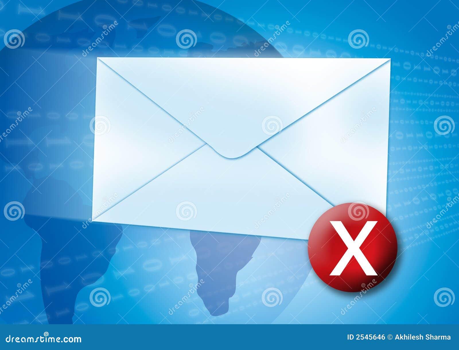 E-mail fout/virusconcept