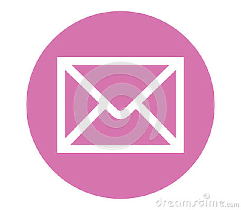 E Mail Icon With Pink Backgorund Stock Illustration Illustration