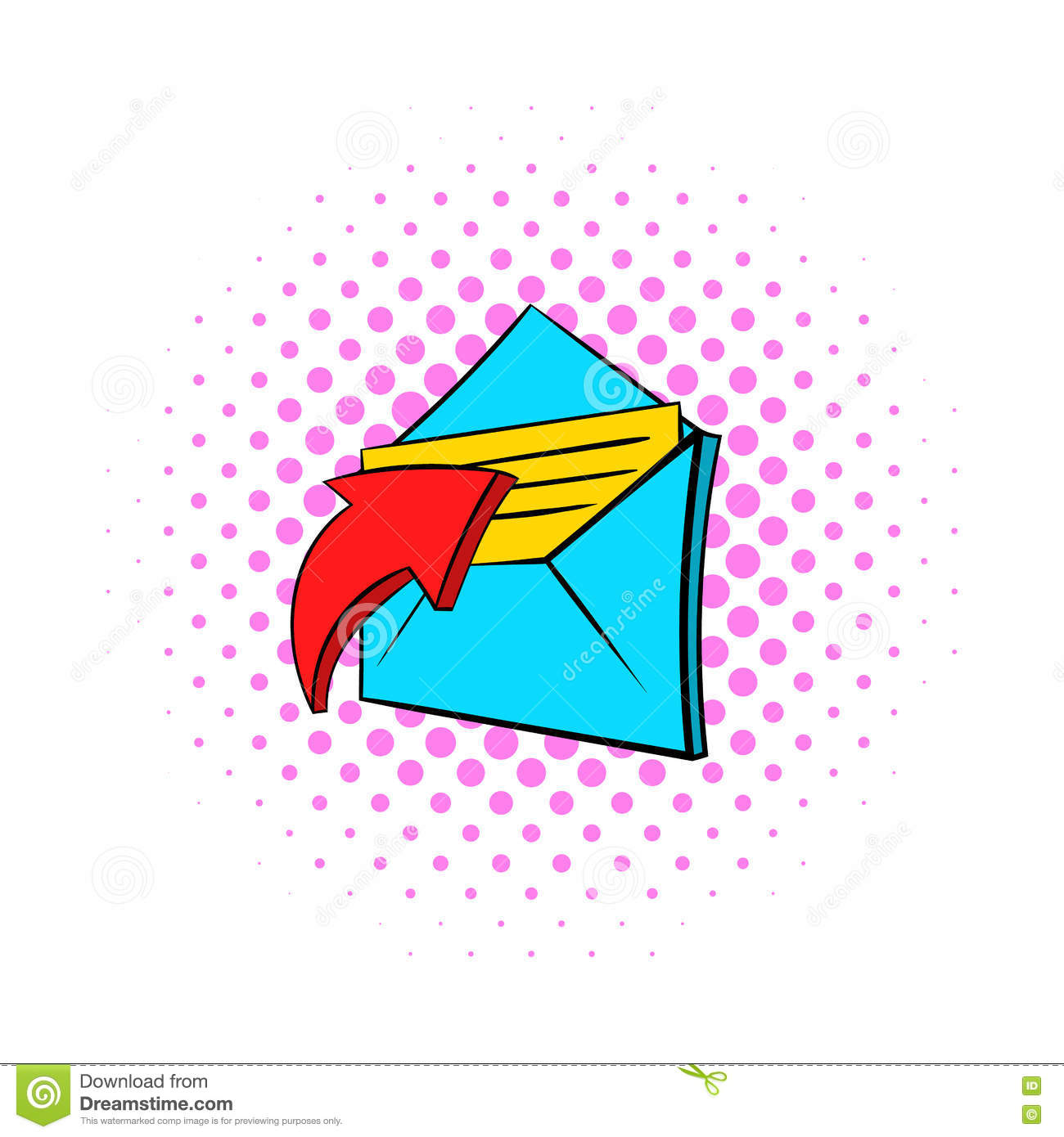 E mail message icon pop art style stock vector illustration of e mail message icon pop art style biocorpaavc