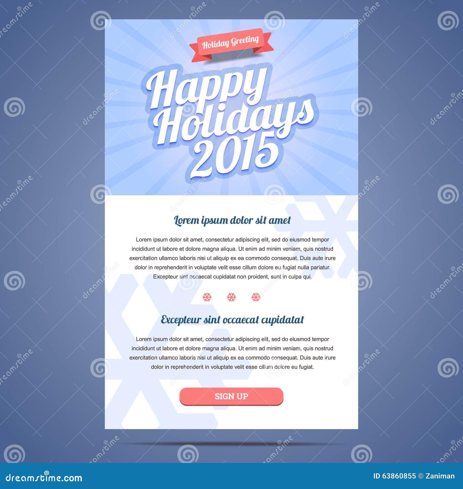 E-Mail-Schablone Mit Gruß Weihnachten Und Glückliches Vektor ...