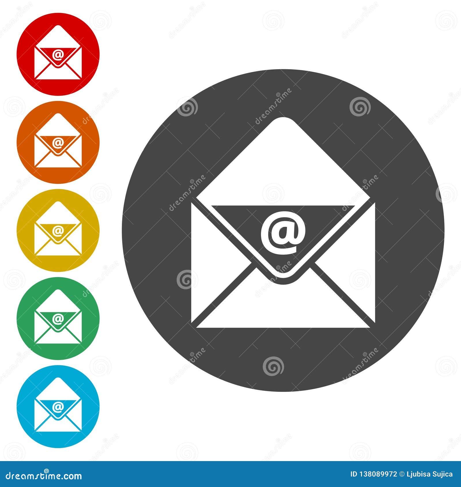 E-mailowa wektorowa ikona, e-mailowa ikona