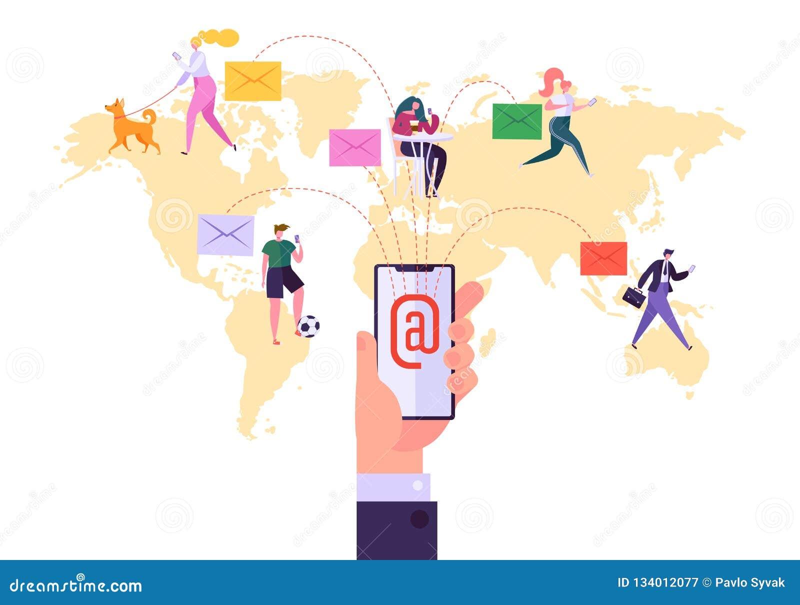 E-mailpublicitaire mededelingconcept wereldwijd Lopende Digitale Promotiecampagne, Directe het Leveren Reclame