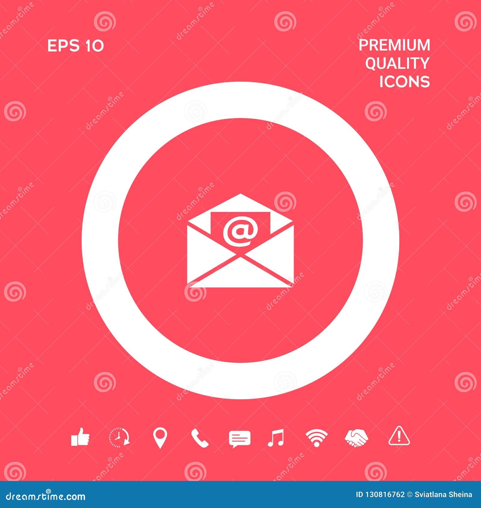 E-mailsymboolpictogram Grafische elementen voor uw ontwerp